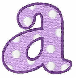 Lowercase a embroidery design
