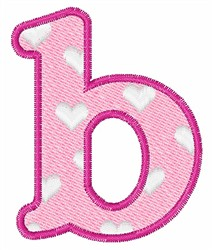 Lowercase b embroidery design