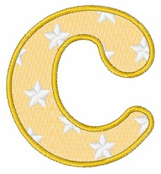 Lowercase c embroidery design