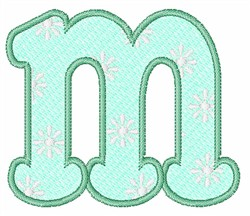 Lowercase m embroidery design
