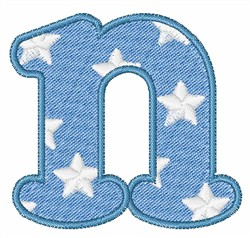 Lowercase n embroidery design