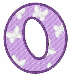 Lowercase o embroidery design