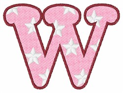 Lowercase w embroidery design