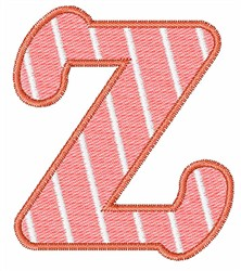 Lowercase z embroidery design