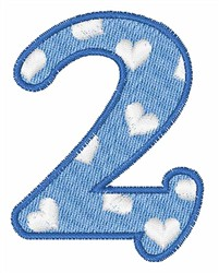 Numeral 2 embroidery design