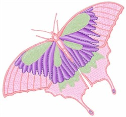 Peach Butterfly embroidery design
