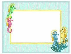 Seahorse Frame embroidery design