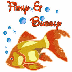 Fishy And Bubbly embroidery design