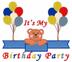My Birthday Party embroidery design