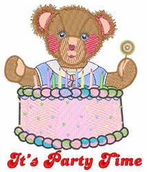 Its Party Time embroidery design