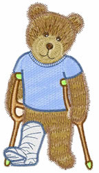 Hurt Teddy embroidery design