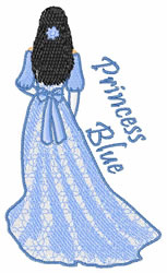 Princess Blue embroidery design