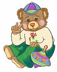 Teddy embroidery design