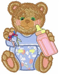 Bottle Teddy embroidery design