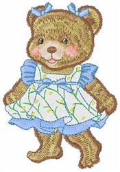 Curtsy Teddy embroidery design