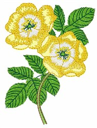 Yellow Hibiscus embroidery design