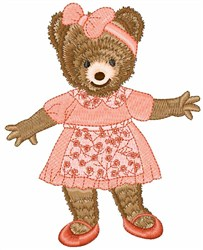 Teddy Toddler embroidery design