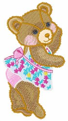 Tip Toe Teddy embroidery design
