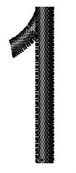 Arial Narrow 1 embroidery design