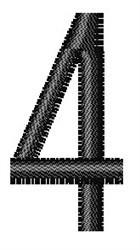 Arial Narrow 4 embroidery design