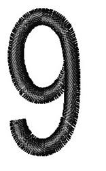 Arial Narrow 9 embroidery design