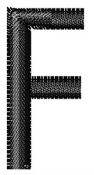 Arial Narrow F embroidery design