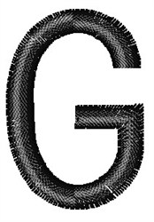 Arial Narrow G embroidery design