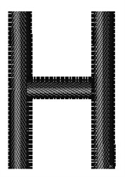 Arial Narrow H embroidery design
