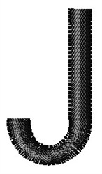 Arial Narrow J embroidery design