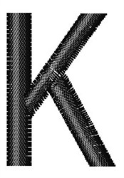 Arial Narrow K embroidery design