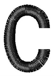 Arial Narrow c embroidery design