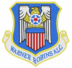 Warner Robins ALC embroidery design