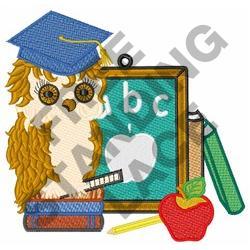 Scholar Owl embroidery design