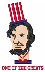 Lincoln The Great embroidery design