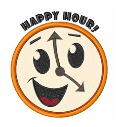 Happy Hour! embroidery design
