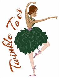 Twinkle Toes Ballerina embroidery design