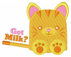 Milk For Kitten embroidery design