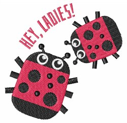 Hey, Ladies! embroidery design