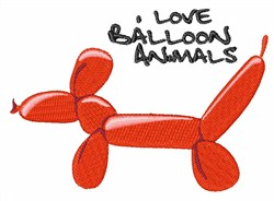 Love Balloon Animals embroidery design