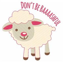 Bashful Lamb embroidery design