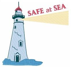 Safe At Sea embroidery design