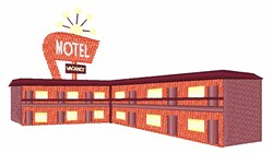 Highway Motel embroidery design