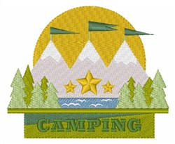 Nature Camping embroidery design