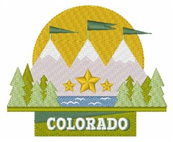 Colorado embroidery design