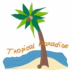Tropical Paradise embroidery design