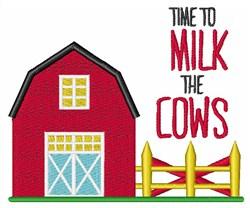 Milk The Cows embroidery design