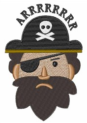 One Eyed Pirate embroidery design