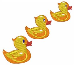 Cute Ducklings embroidery design