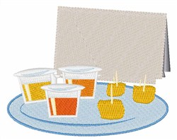 Drink & Dine embroidery design