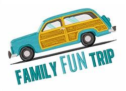 Family Fun Trip embroidery design